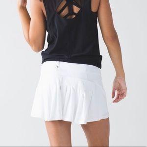 LULULEMON Circuit Breaker Skirt White 8 tennis